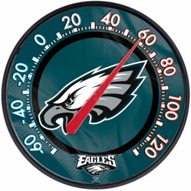 Philadelphia Eagles Round Wall Thermometer