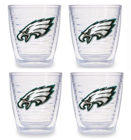 Philadelphia Eagles Set of FOUR 12 oz. Tervis Tumblers