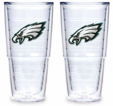 "Philadelphia Eagles Set of TWO 24 oz. ""Big T"" Tervis Tumblers"