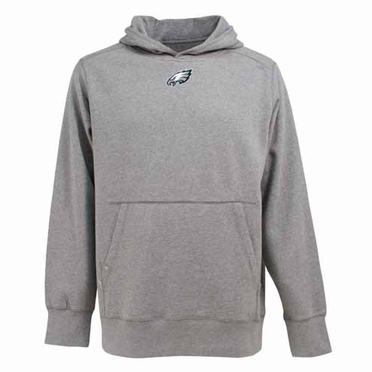 Philadelphia Eagles Mens Signature Hooded Sweatshirt (Color: Gray)