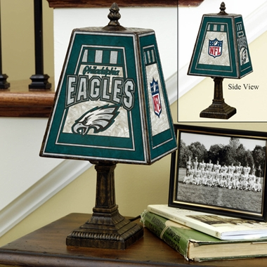 Philadelphia Eagles Small Art Glass Lamp