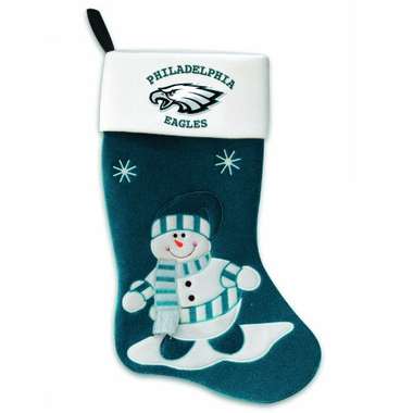 Philadelphia Eagles Snowman Felt Stocking