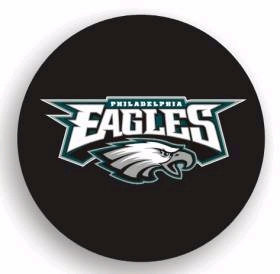 Philadelphia Eagles Black Tire Cover - Standard Size