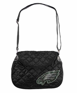 Philadelphia Eagles Sport Noir Quilted Saddlebag