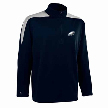 Philadelphia Eagles Mens Succeed 1/4 Zip Performance Pullover (Color: Smoke)