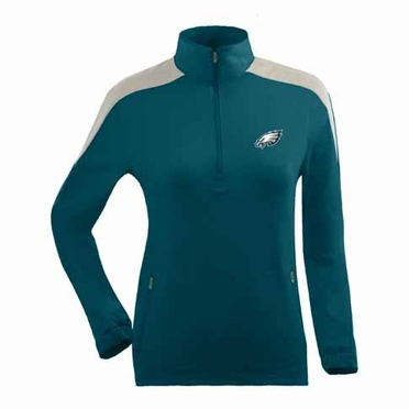 Philadelphia Eagles Womens Succeed 1/4 Zip Performance Pullover (Team Color: Teal)