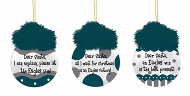 Philadelphia Eagles Team Sayings Ornament Set