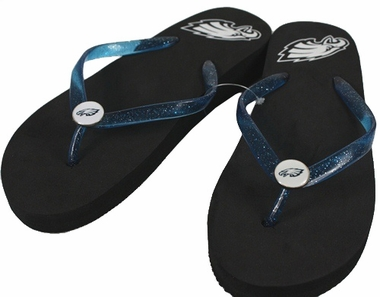 Philadelphia Eagles Wedge Flip Flops