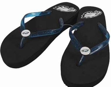Philadelphia Eagles Wedge Flip Flops - Large