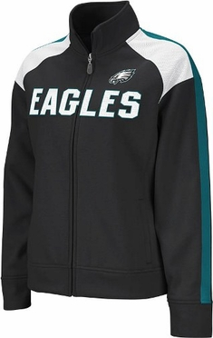 Philadelphia Eagles Women's Reebok Bonded Full Zip Track Jacket
