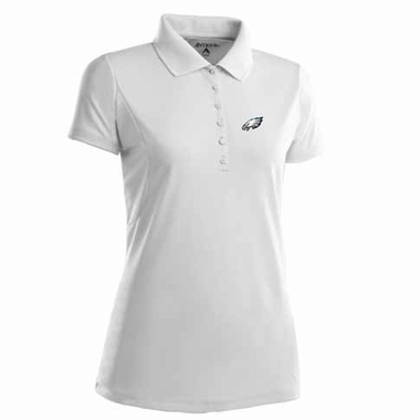 Philadelphia Eagles Womens Pique Xtra Lite Polo Shirt (Color: White)