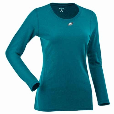 Philadelphia Eagles Womens Relax Long Sleeve Tee (Team Color: Teal)