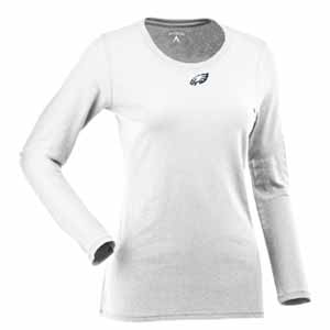 Philadelphia Eagles Womens Relax Long Sleeve Tee (Color: White) - Large