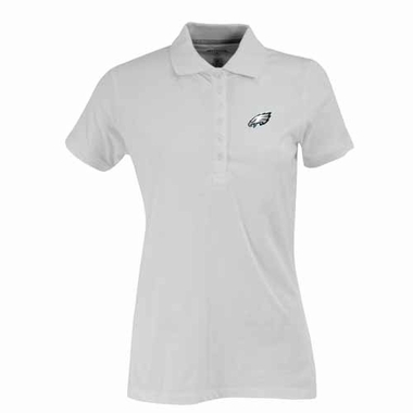 Philadelphia Eagles Womens Spark Polo (Color: White)