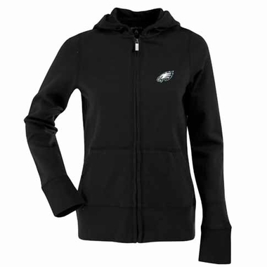 Philadelphia Eagles Womens Zip Front Hoody Sweatshirt (Alternate Color: Black)