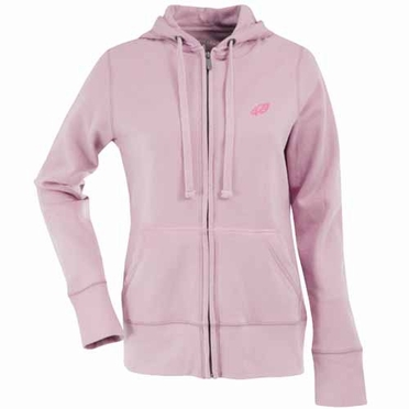 Philadelphia Eagles Womens Zip Front Hoody Sweatshirt (Color: Pink)
