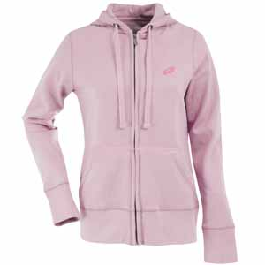 Philadelphia Eagles Womens Zip Front Hoody Sweatshirt (Color: Pink) - Small