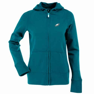 Philadelphia Eagles Womens Zip Front Hoody Sweatshirt (Team Color: Teal)