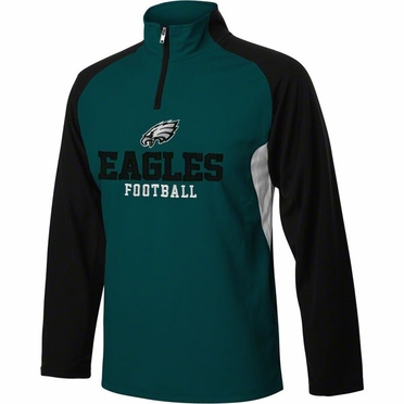 Philadelphia Eagles YOUTH 1/4 Zip Lightweight Pullover Jacket