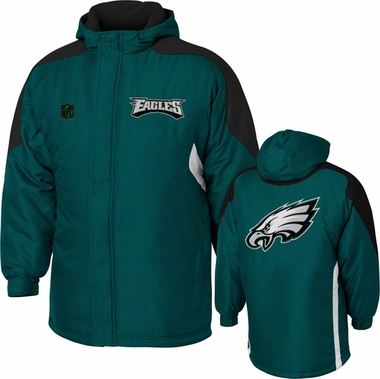 Philadelphia Eagles YOUTH Field Goal Midweight Full Zip Hooded Jacket
