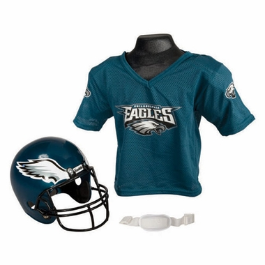 Philadelphia Eagles Youth Helmet and Jersey Set