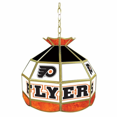 Philadelphia Flyers 16 Inch Diameter Stained Glass Pub Light