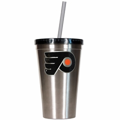 Philadelphia Flyers 16oz Stainless Steel Insulated Tumbler with Straw