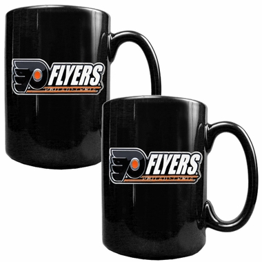 Philadelphia Flyers 2 Piece Coffee Mug Set (Wordmark)