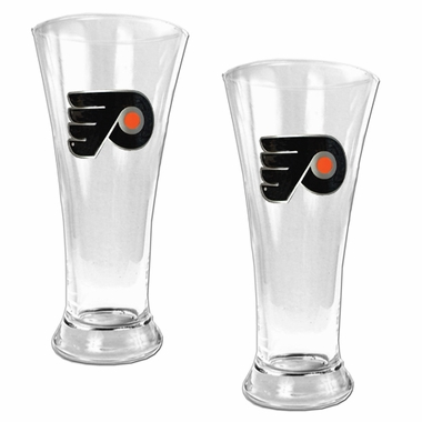 Philadelphia Flyers 2 Piece Pilsner Glass Set