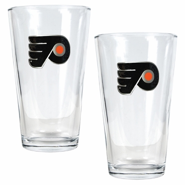 Philadelphia Flyers 2 Piece Pint Glass Set