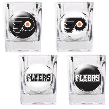 Philadelphia Flyers 4 Piece Assorted Shot Glass Set