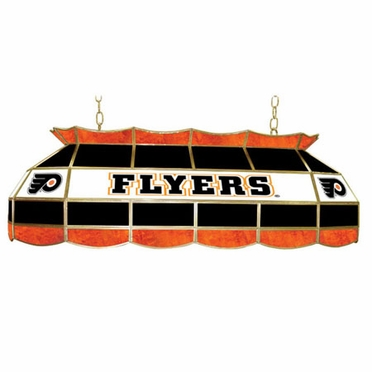 Philadelphia Flyers 40 Inch Rectangular Stained Glass Billiard Light