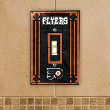 Philadelphia Flyers Art Glass Lightswitch Cover