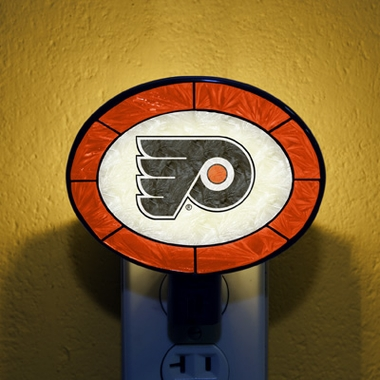Philadelphia Flyers Art Glass Night Light