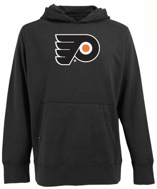 Philadelphia Flyers Big Logo Mens Signature Hooded Sweatshirt (Team Color: Black)