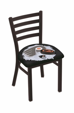 Black background 18 inch l00418 black wrinkle with ladder back chair
