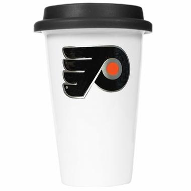 Philadelphia Flyers Ceramic Travel Cup (Black Lid)