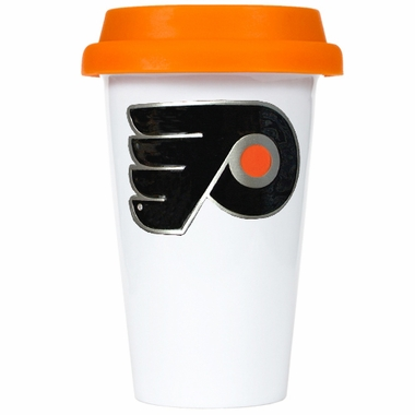Philadelphia Flyers Ceramic Travel Cup (Team Color Lid)