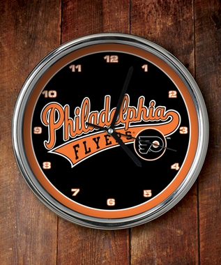 Philadelphia Flyers Chrome Clock