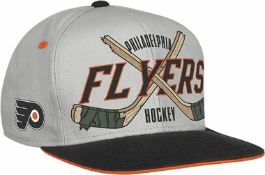 Philadelphia Flyers Cross Sticks Snap back Hat
