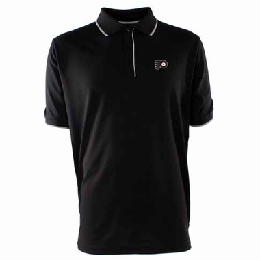 Philadelphia Flyers Mens Elite Polo Shirt (Team Color: Black)