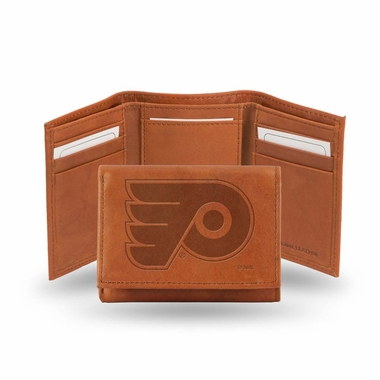 Philadelphia Flyers Embossed Leather Trifold Wallet