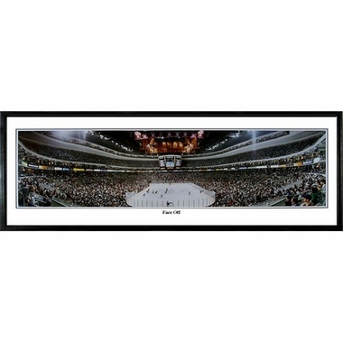 Philadelphia Flyers Face Off Framed Panoramic Print