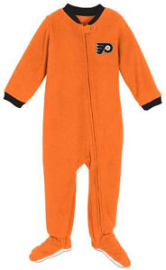 Philadelphia Flyers Infant Footed Sleeper Pajamas - 12 Months