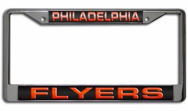 Philadelphia Flyers Laser Etched Chrome License Plate Frame
