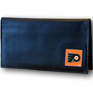 Philadelphia Flyers Leather Checkbook Cover (F)