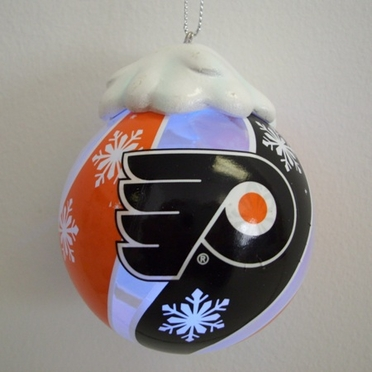 Philadelphia Flyers Light Up Glass Ball Ornament