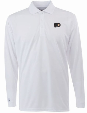 Philadelphia Flyers Mens Long Sleeve Polo Shirt (Color: White)