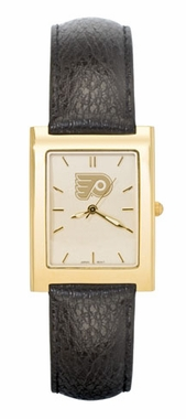 Philadelphia Flyers Men's Gold Rectangular Watch