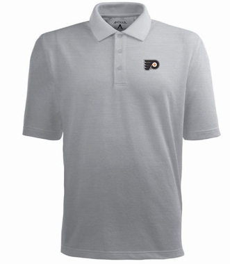 Philadelphia Flyers Mens Pique Xtra Lite Polo Shirt (Color: Gray)